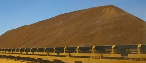 Iron ore stockpile